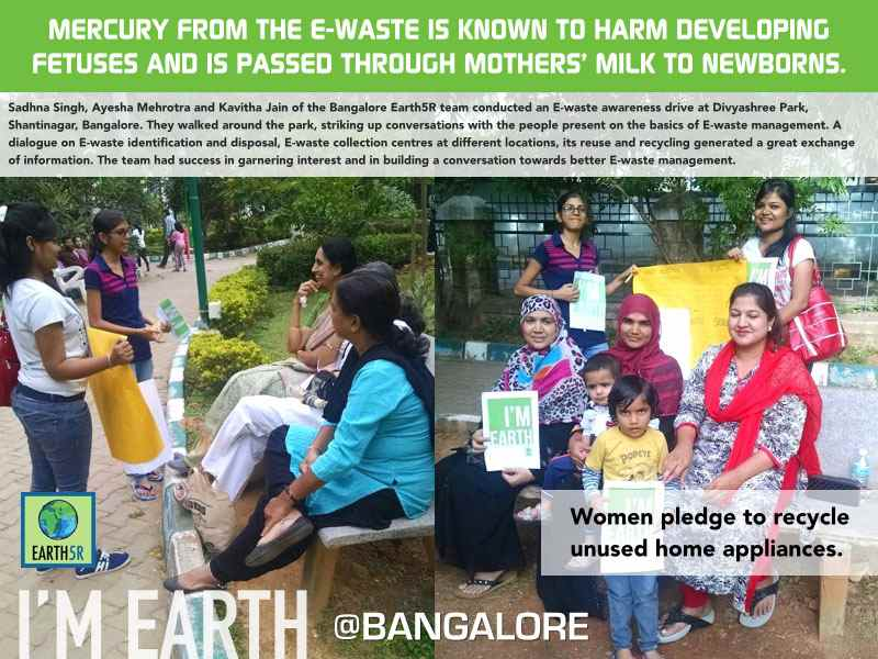 E-Waste Awareness Drive Women Bangalore Earth5R Mumbai India Environmental NGO
