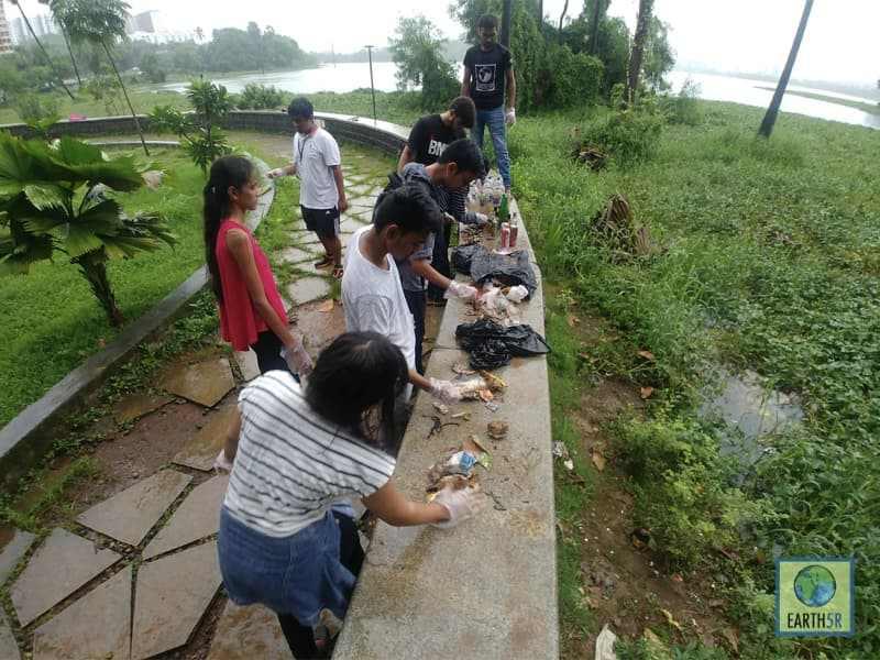 E-Waste Lake Cleanup Earth5R Mumbai India Environmental NGO