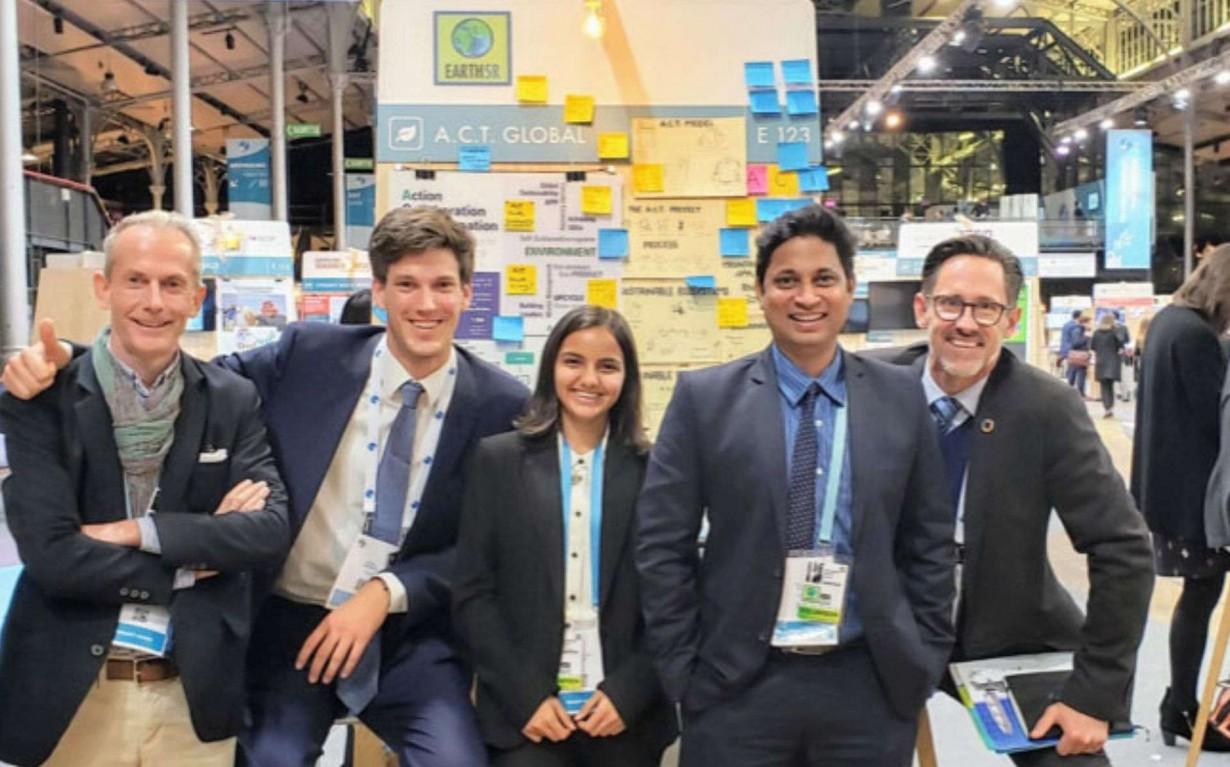 Earth5R team mates celebrates completion successful Paris peace forum