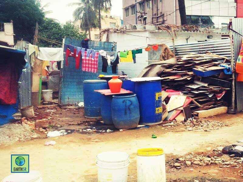 Environmental Awareness Bangalore Slum Earth5R Mumbai India Environmental NGO
