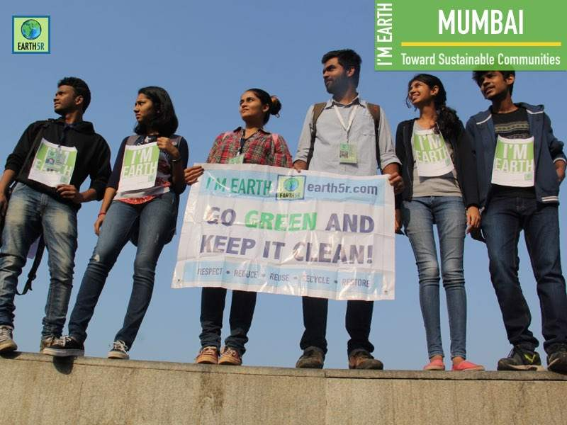 Environmental Awareness Volunteers Marathon Earth5R Mumbai India Environmental NGO