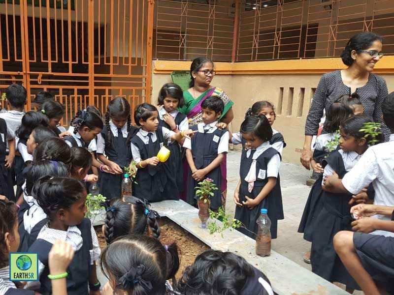 Gardening Workshop Upcycling Mumbai India Environmental NGO Earth5R