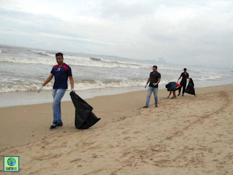 Hexaware CSR Coastal Cleanup Mumbai India Environmental NGO Earth5R