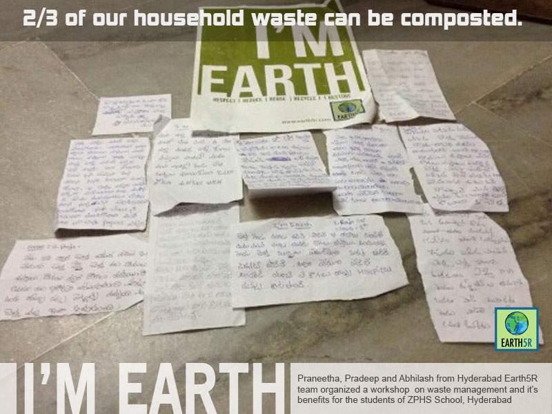 Hyderabad Waste Management Workshop Mumbai India Environmental NGO Earth5R