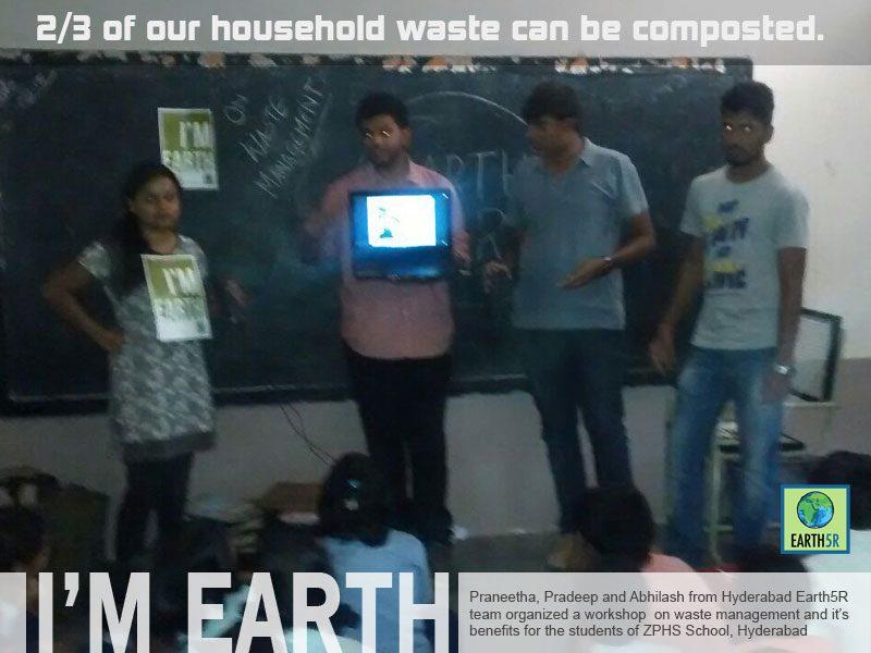 Hyderabad Waste Management Workshop Volunteer Mumbai India Environmental NGO Earth5R