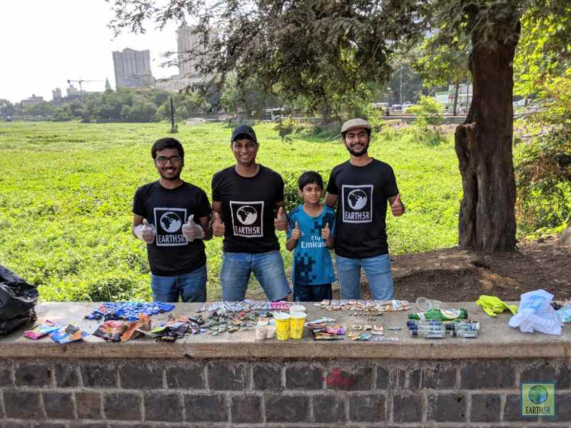 Ketul Patel Jahaan Gupta Ishit Patel Saurabh Gupta Volunteer Mumbai India Environmental NGO Earth5R
