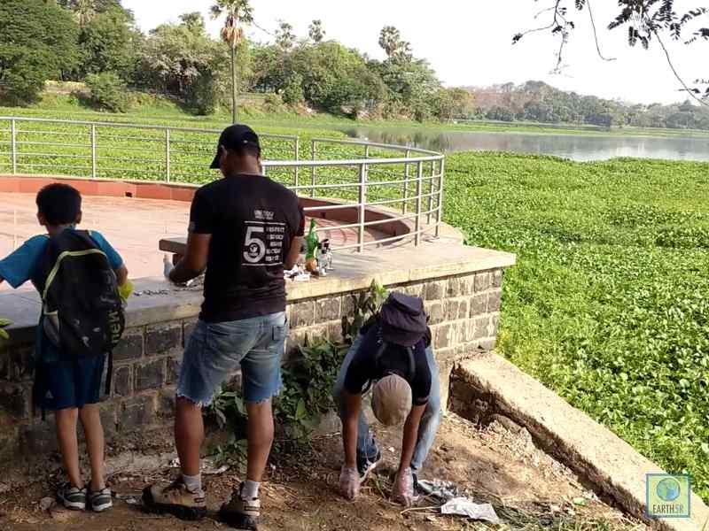 Lake Clean Up Volunteer Waste Management Mumbai India Environmental NGO Earth5R