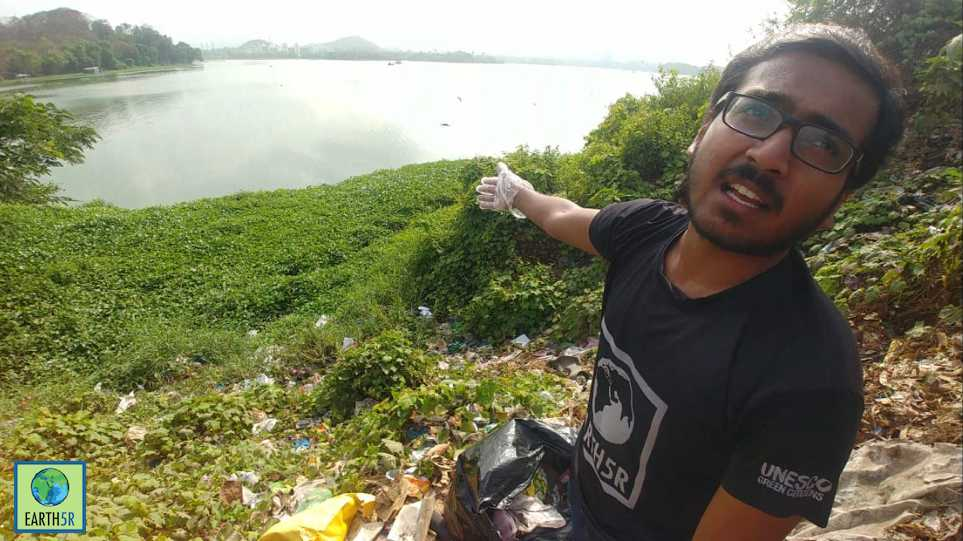 Lake Clean up Waste Management Mumbai India Environmental NGO Earth5R