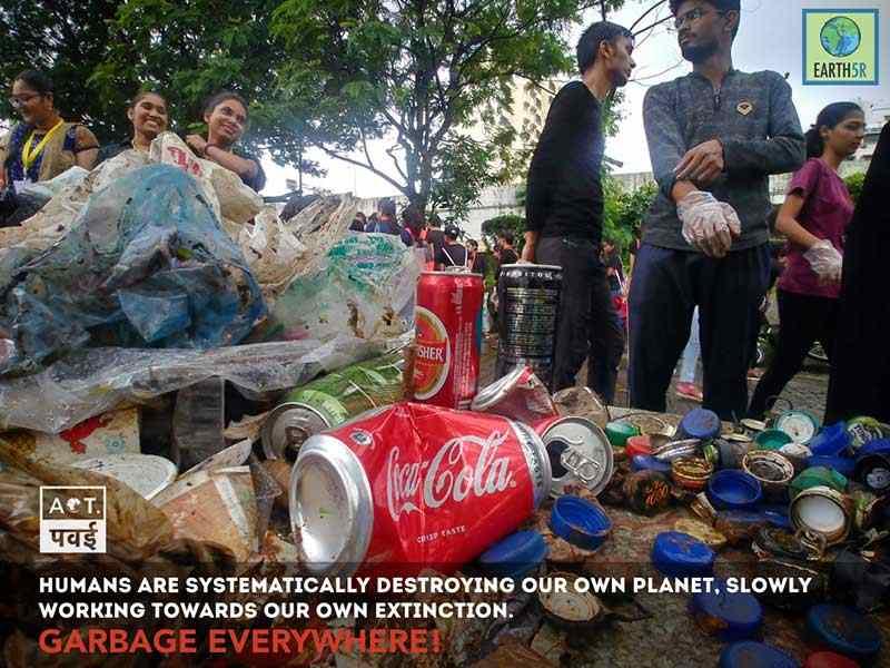 Lake Cleanup Mumbai India Environmental NGO Earth5R Saurabh Gupta Environmentalist