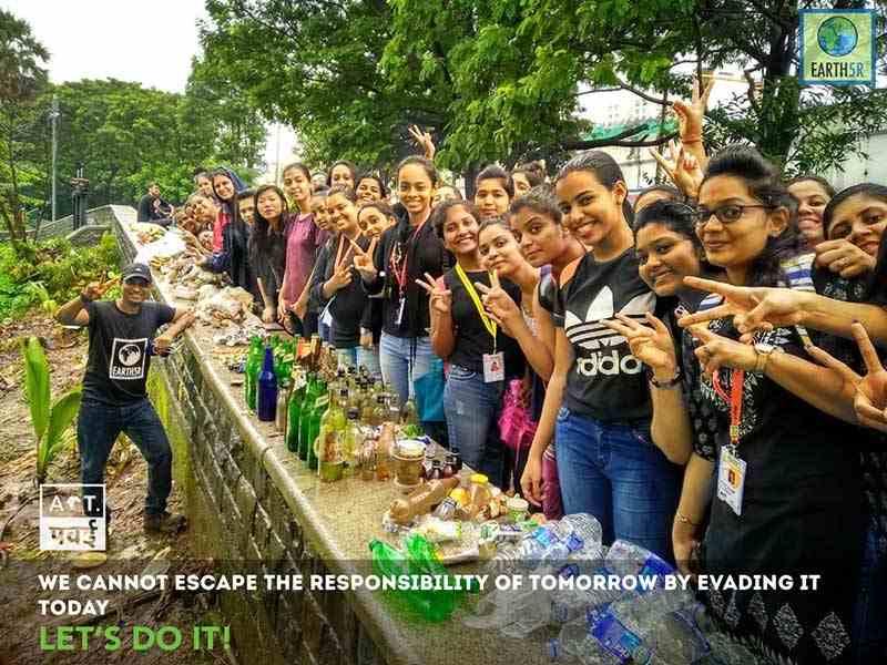 Lake Cleanup Volunteer Mumbai India Environmental NGO Earth5R Saurabh Gupta Environmentalist