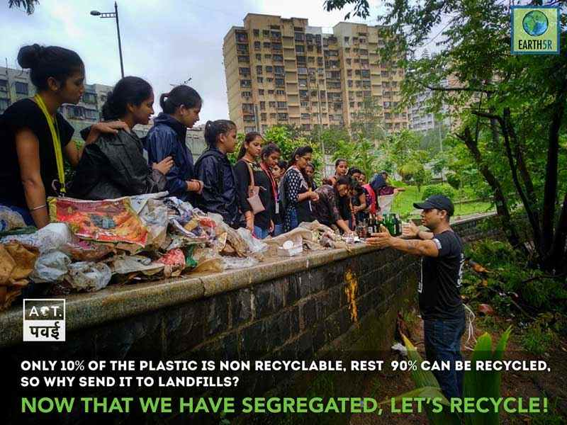 Lake Cleanup Volunteering project Mumbai India Environmental Organisation Earth5R Saurabh Gupta Environmentalist