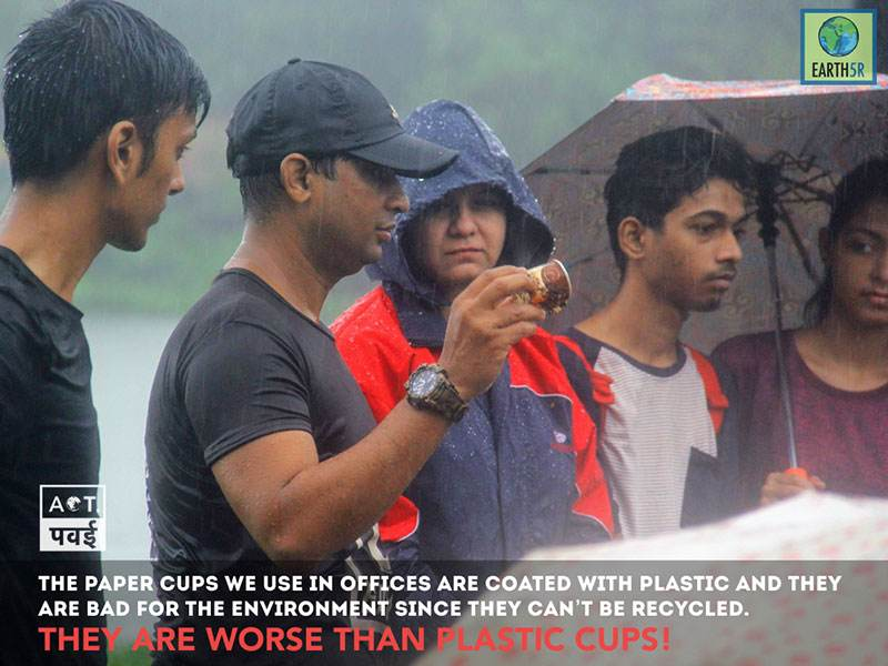 Lake Cleanup recycling Mumbai India Environmental NGO Earth5R Saurabh Gupta Environmentalist