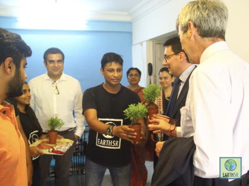 Meeting French Ambassador Mumbai India Environmental NGO Earth5R