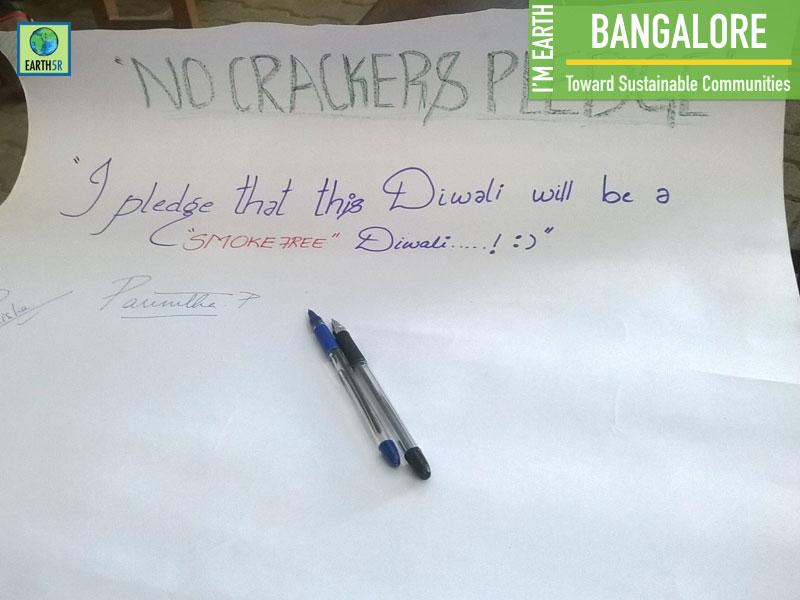 No Crackers Pledge Noise Pollution Bangalore Mumbai India Environmental NGO Earth5R