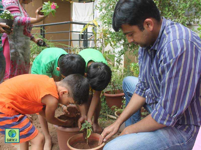 Organic Gardening Community Development Pune Earth5R Mumbai India Environmental NGO