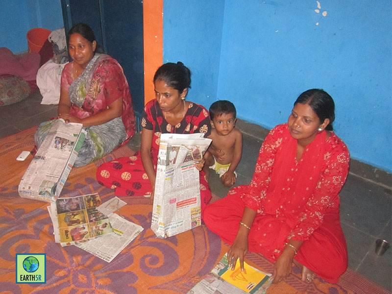 Paper Bag Recycling Workshop Bangalore Mumbai India Environmental NGO Earth5R