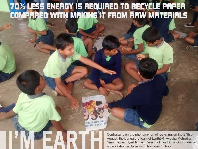 Paper Recycling Workshop Bangalore Mumbai India Environmental NGO Earth5R