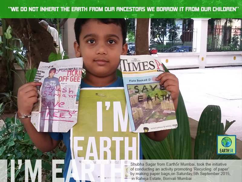 Paper Recycling Workshop Mumbai India Environmental NGO Earth5R