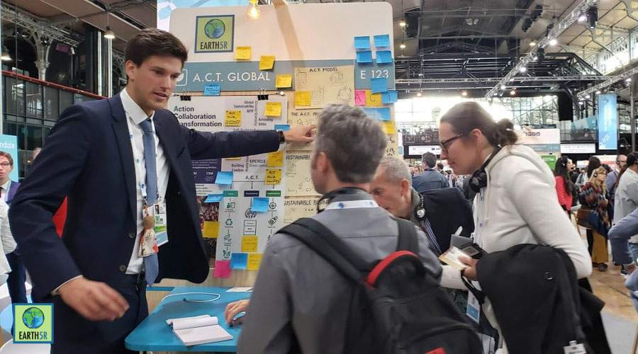 Philipp Bonkatz, VP explain ACT global model to PPF guests Mumbai India Environmental NGO Earth5R