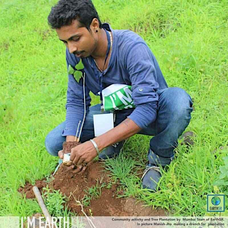 Plantation Volunteer Mumbai India Environmental NGO CSR Earth5R