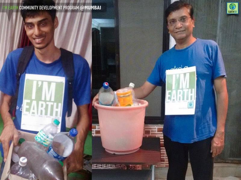 Plastic Bottle Recycling Volunteer Mumbai India Environmental NGO Earth5R