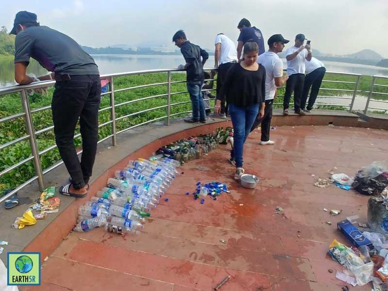 Plastic Waste Lake Cleanup Mumbai India Environmental NGO Earth5R
