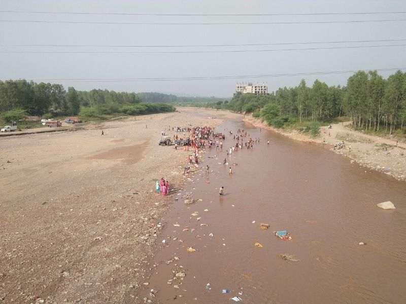 Polluted Ghaggar River Mumbai India Environmental NGO Earth5R