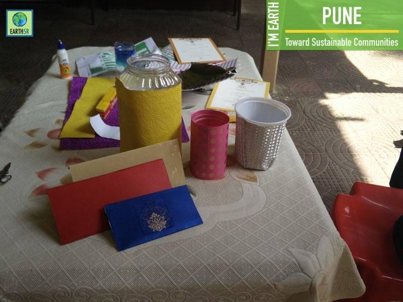 Pune Upcycling Workshop Volunteers Earth5R Mumbai India Environmental NGO