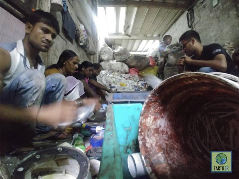 Recycling Center Plastic Dharavi Mumbai India Environmental NGO Earth5R