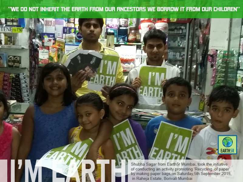 Recycling Paper Waste Management Workshop Mumbai India Environmental NGO Earth5R