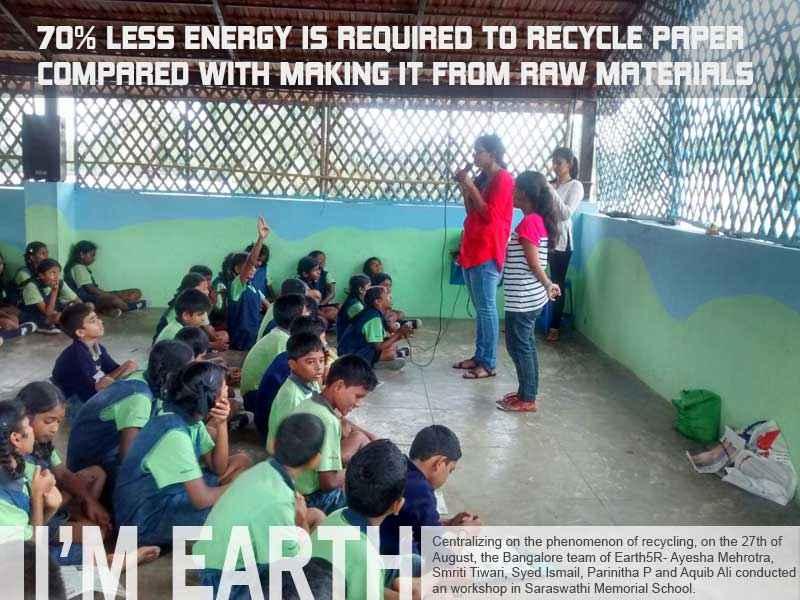 Recycling Workshop Bangalore Mumbai India Environmental NGO Earth5R