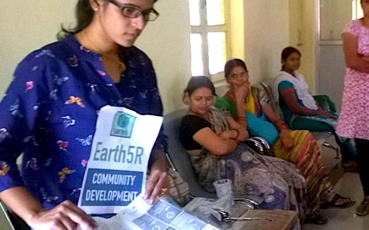 Recycling Workshop Varanasi Mumbai India Environmental NGO Earth5R