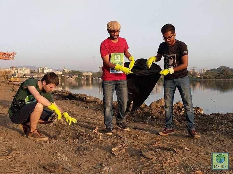 Sacramento River California Pollution Cleanup  Mumbai India Environmental NGO Earth5R