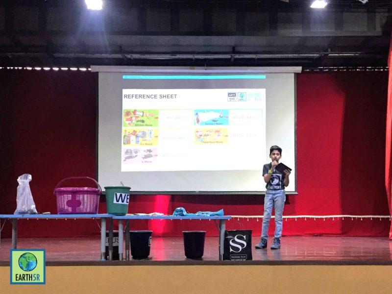 School recycling training Mumbai India Environmental NGO Earth5R CSR