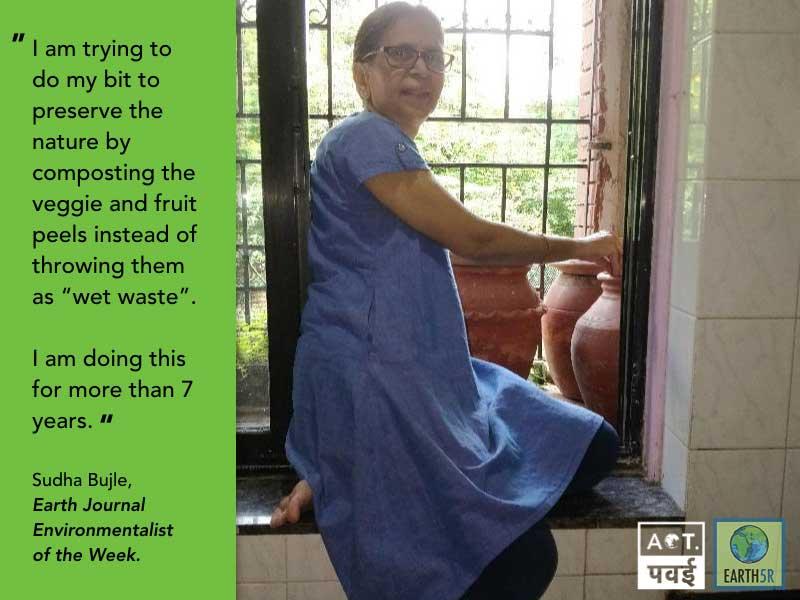 Sudha Bhujle Environmentalist Earth5R Sustainability Mumbai India Environmental NGO