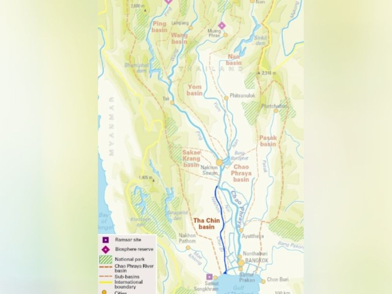 Tha Chin River Thailand Map Pollution Mumbai India Environmental NGO Earth5R