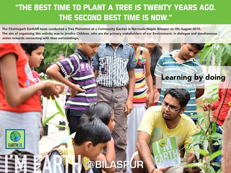 Tree Plantation Bilaspur Sanchit Soni Mumbai India Environmental NGO Earth5R