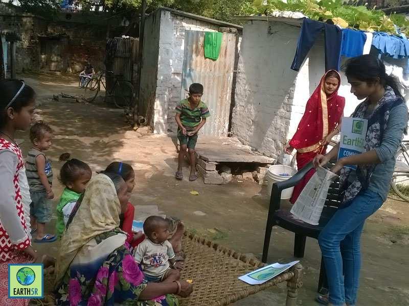 Upcycling Community Awareness Varanasi Mumbai India Environmental NGO Earth5R