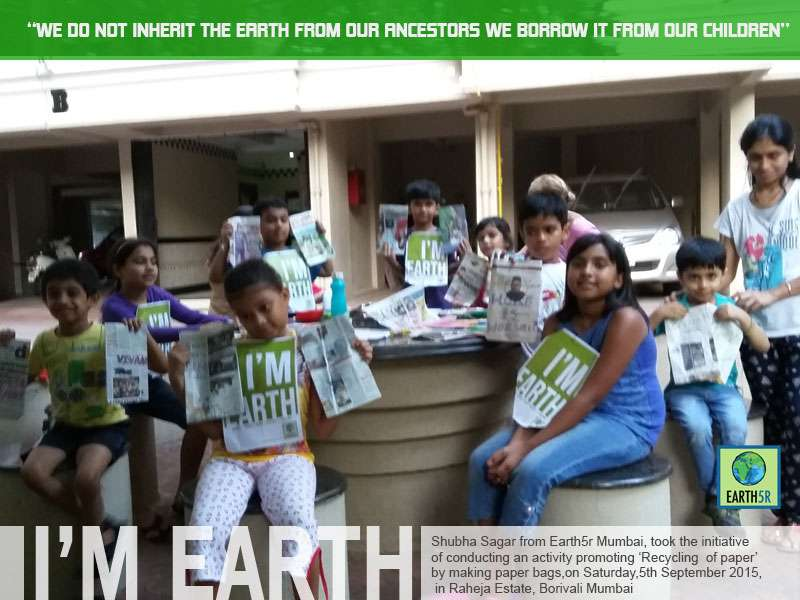 Upcycling Paper Workshop Mumbai India Environmental NGO Earth5R