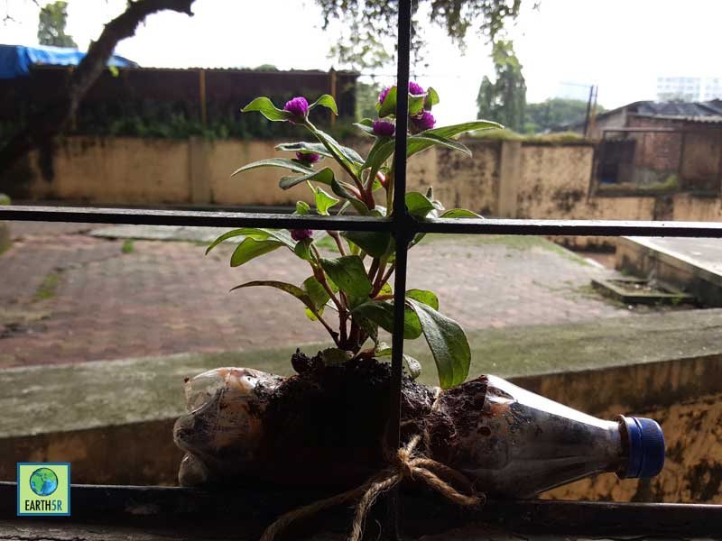 Upcycling Plastic Gardening Awareness Mumbai India Environmental NGO Earth5R