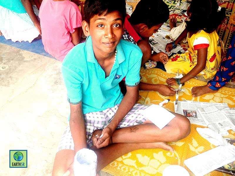 Upcycling Workshop Children Bangalore Earth5R Mumbai India Environmental NGO