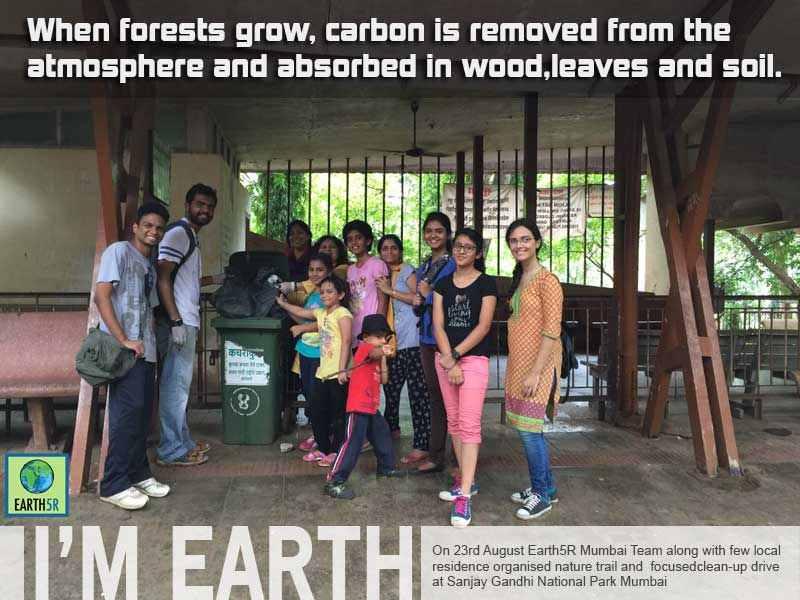Volunteer Clean up Nature Trail Mumbai India Environmental NGO Earth5R