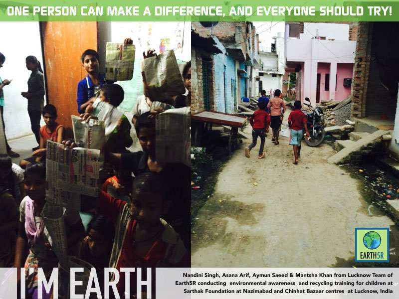 Volunteer Work Lucknow Mumbai India Environmental NGO Earth5R