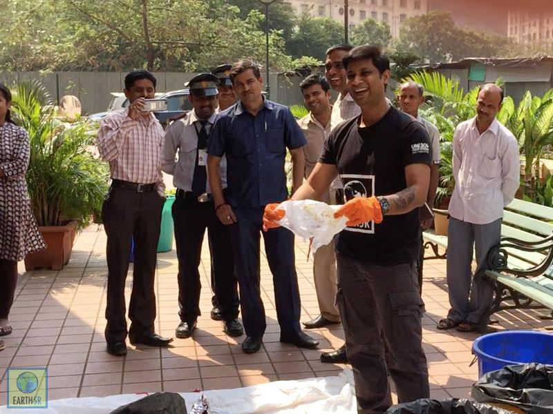 Waste Segregation Training Saurabh Gupta Mumbai India Environmental NGO Earth5R