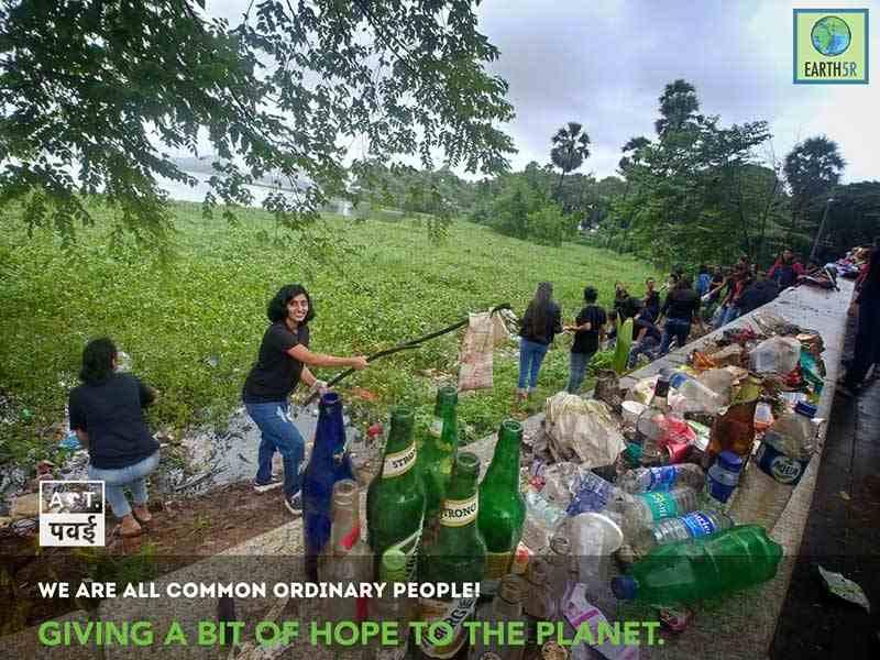 Waste segregation lake cleanup Mumbai India Environmental Organisation Earth5R Saurabh Gupta Environmentalist