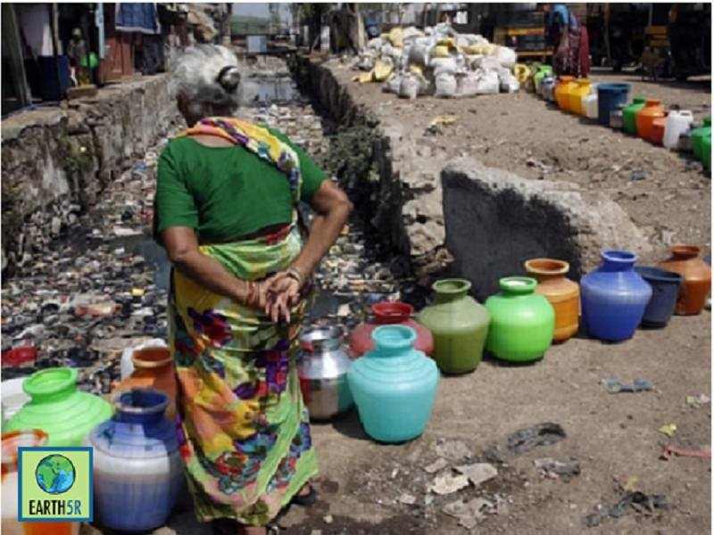 Water Crisis Slum community Mumbai India Environmental NGO Earth5R