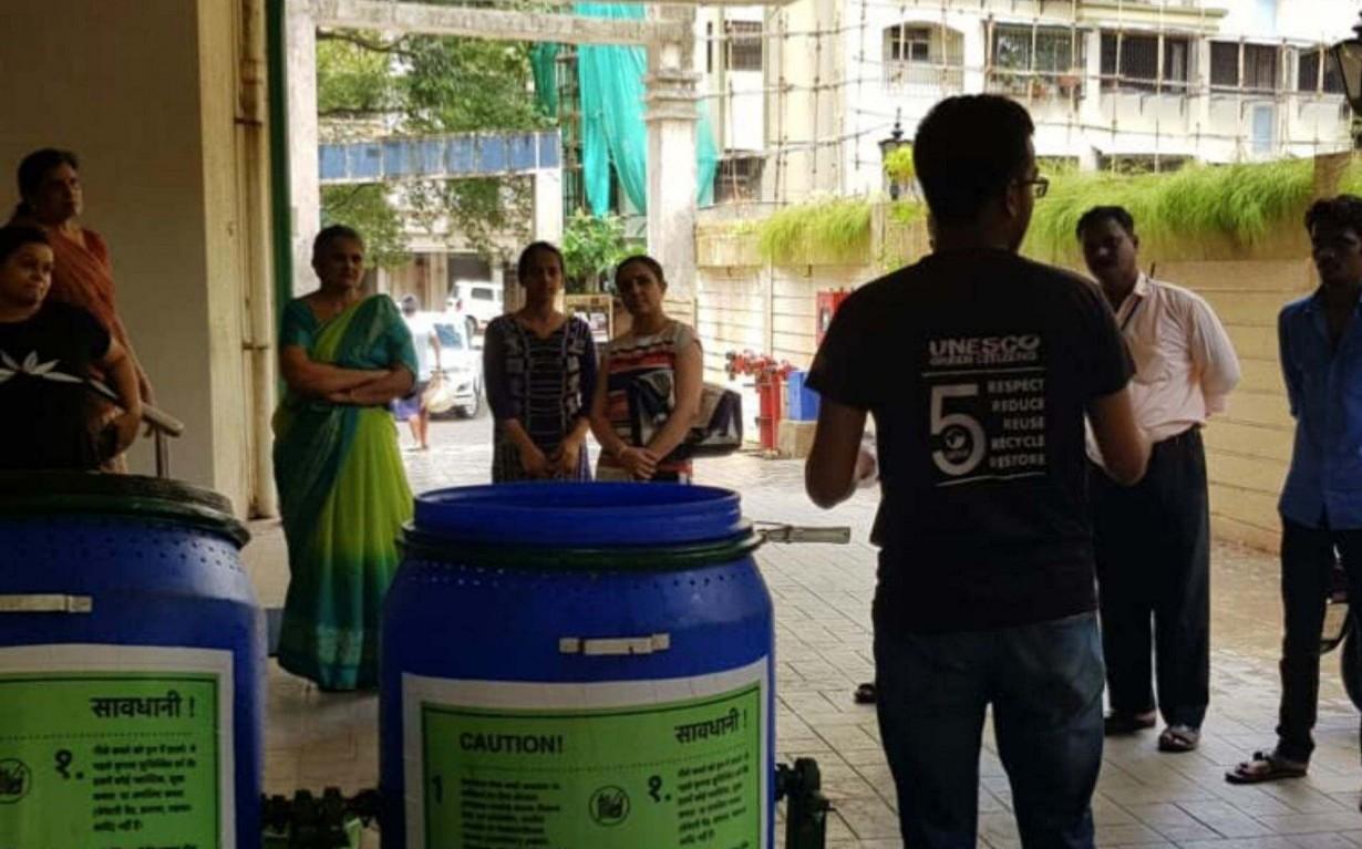 Zero Waste Composting Units Earth5R Mumbai India Environmental NGO