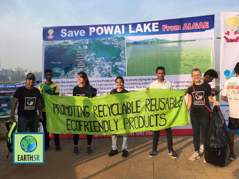 Zero waste Marathon Clean up Volunteer Mumbai India Environmental Organisation Earth5R