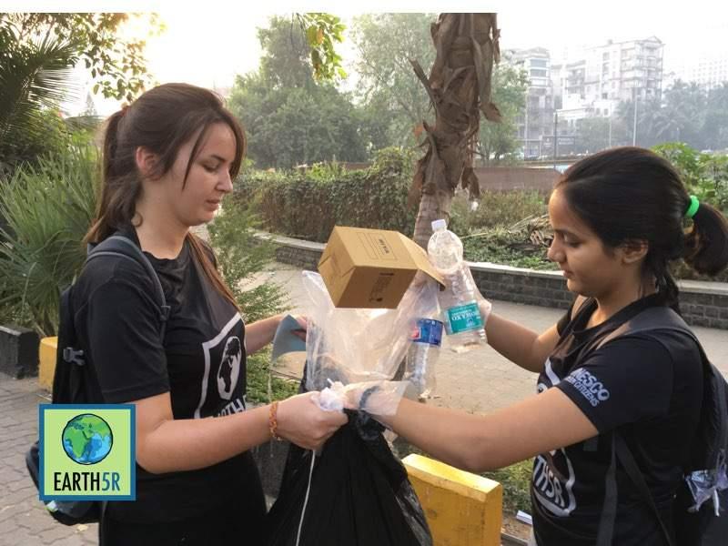 Zero waste Marathon Recycling Awareness Mumbai India Environmental Organisation Earth5R