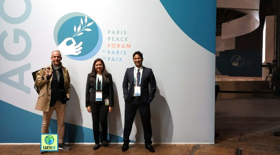 nick anthony, bharati marathe and Saurah gupta at Paris peace forum Mumbai India Environmental NGO Earth5R